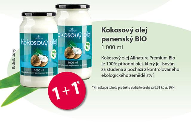 Allnature Kokosový olej panenský BIO 1000ml