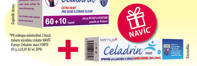 Barnys Celadrin EXTRA SILNÝ cps.60+10 navíc