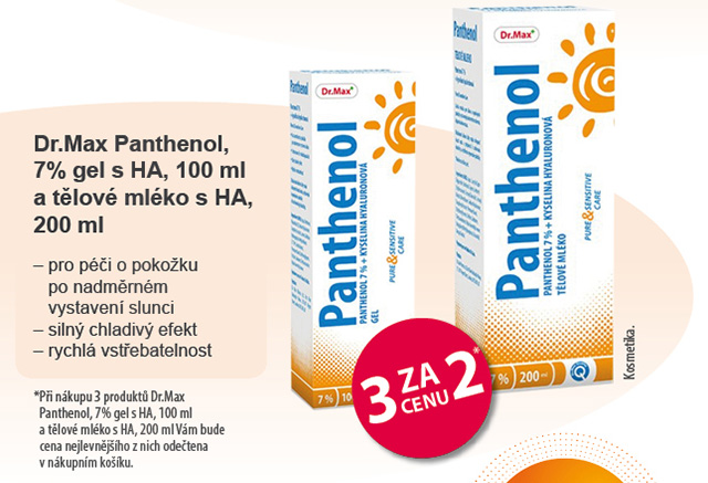 Dr.Max Panthenol tělové mléko s HA, 200ml
