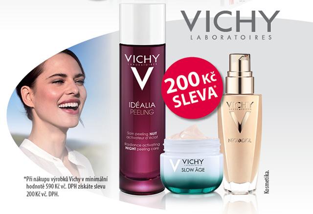 Sleva 200 Kč na nákup přípravků Vichy and 500 Kč.