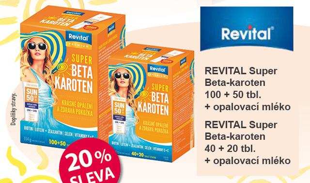 REVITAL Super Beta-karoten tbl.40+20 + opalovací mléko