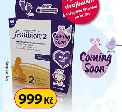 Femibion 2 s vit D3 dvojbalení tbl.60 a tob.60 + tetování