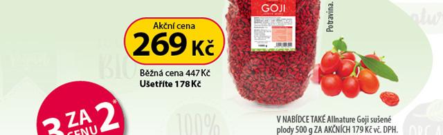 Allnature Goji sušené plody 1000g 40 % SLEVA.