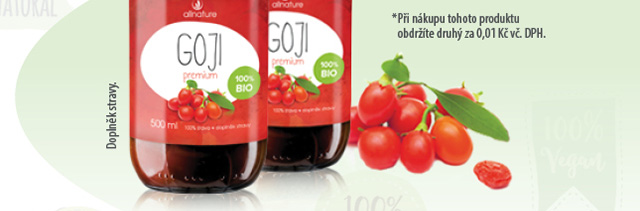Allnature Goji BIO šťáva 500ml 1+1