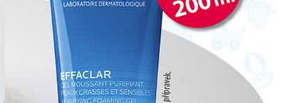 EFFACLAR Čisticí pěnící gel 300 ml 300ml za cenu 200ml