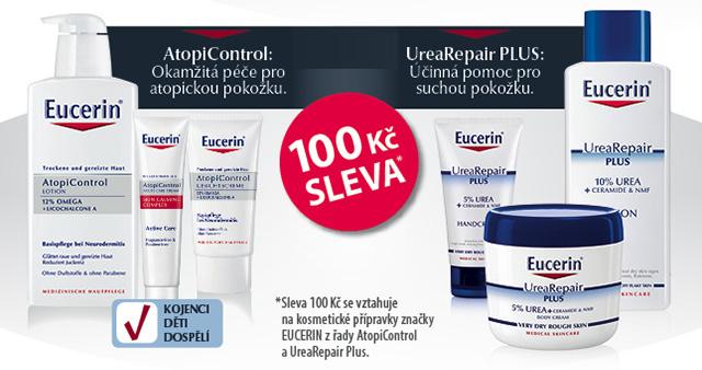 EUCERIN UREA REPAIR + ATOPICONTROL 100 Kč SLEVA*
