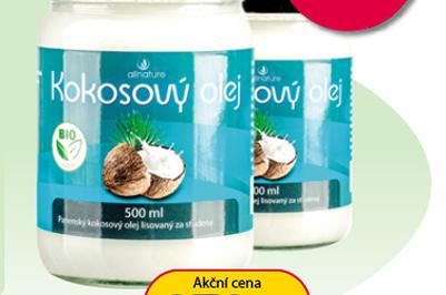 Allnature kokosový olej 1+1*