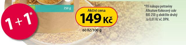 Allnature kokosový cukr 1+1*