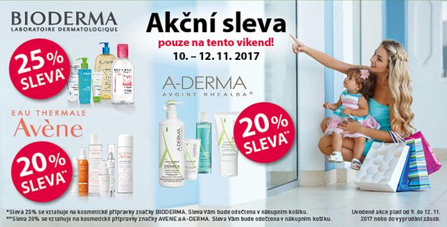 Bioderma, Avene, A-derma až 25% SLEVA