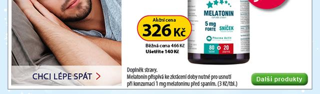 Melatonin 5mg FORTE 80+20 tablet ZDARMA 30 % SLEVA